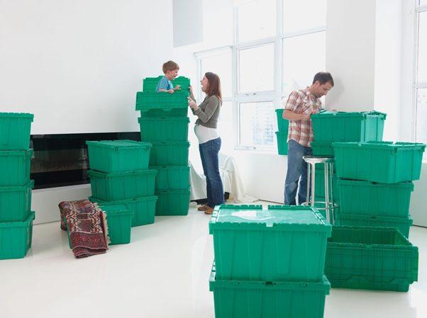 Plastic verhuisbox