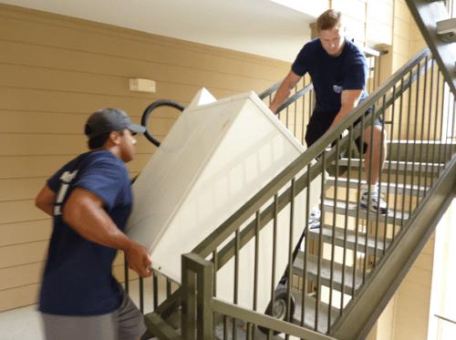 Wasmachine verhuizen via trap