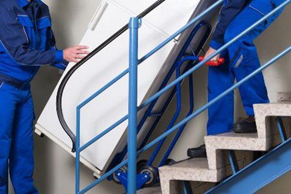 Wasmachine verhuizen via trappen